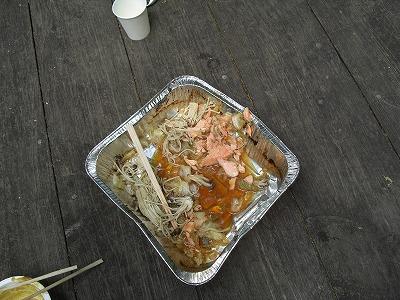 実はあった鮭のちゃんちゃん焼き(食べるのに夢中で出来立てを撮るのを忘れてましたw)